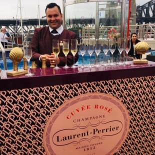 The Laurent Perrier bar.
