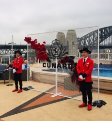 Aussie uniforms for the QE2 staff.