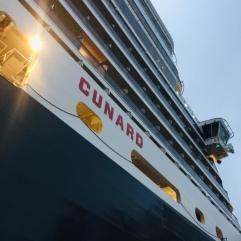 Exiting the ship.