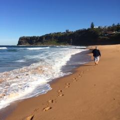 DD makes the beach his own