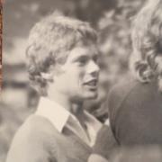 My high school crush - Chris Evans - we'd secretly take photos of him in the quadrangle.