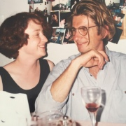 My ex and I in the very early years of our relationship, this photo was at a dinner party in a terrace I was renting with friends in George Street, Paddington.